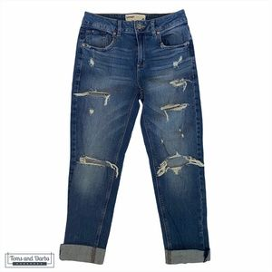 Garage Boyfriend Ripped Jeans Blue